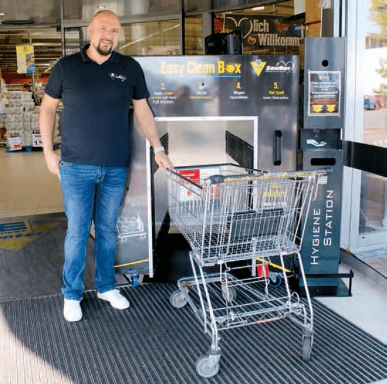 Einkaufswagen desinfizieren Zeidler