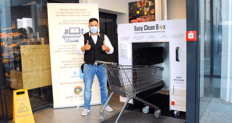 Einkaufswagen desinfizieren Easy Clean Box Wenzel